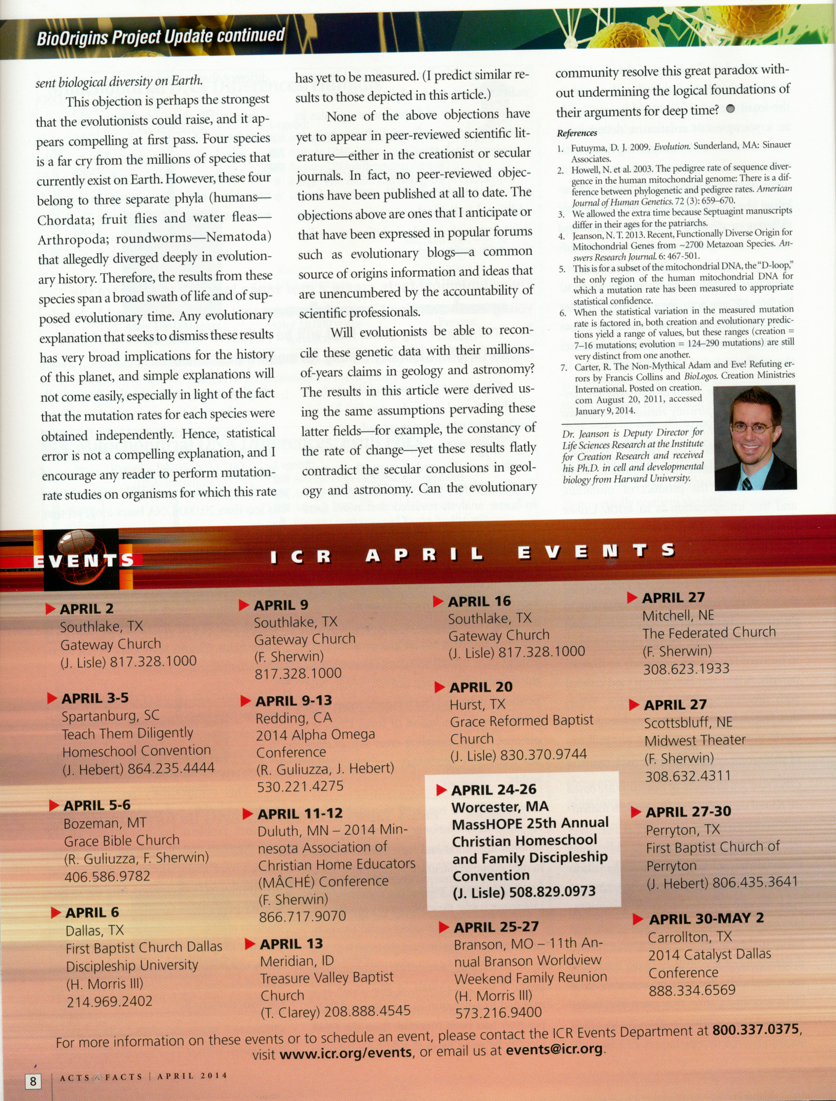 Acts And Facts Magazine Institute For Creation Research