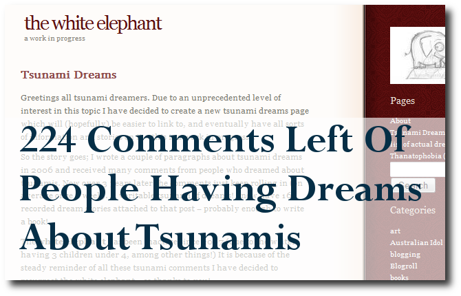 Dreams Of Tsunamis