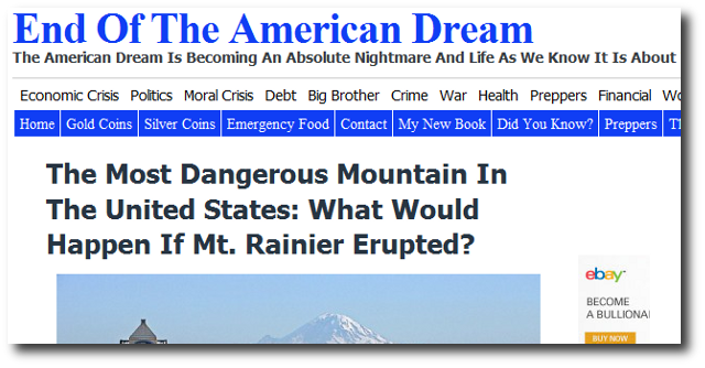 The Most Dangerous Mountain In The United States What Would Happen If Mt. Rainier Erupted