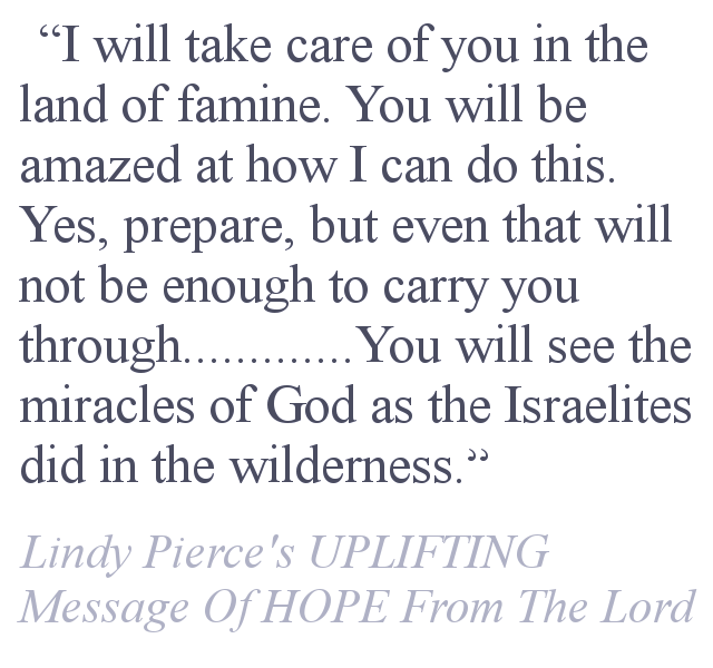 Lindy Pierce's Message Of HOPE From The Lord