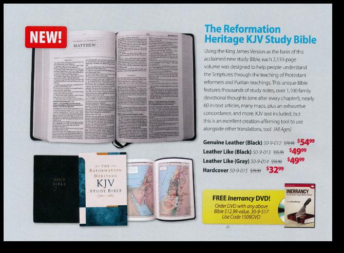 The Reformation Heritage KJV Bible