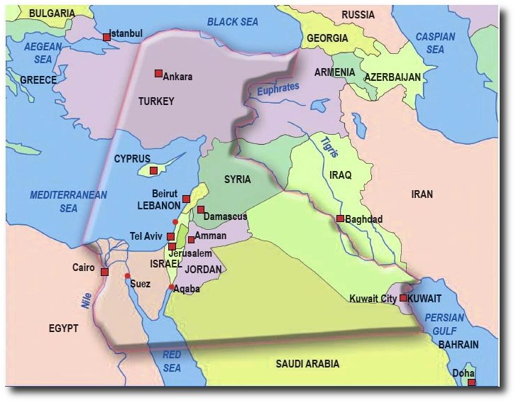 The Biblical Borders of the Land of Israel