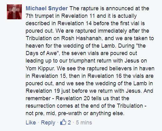 Michael Snyder on SImple Rapture Scriptures