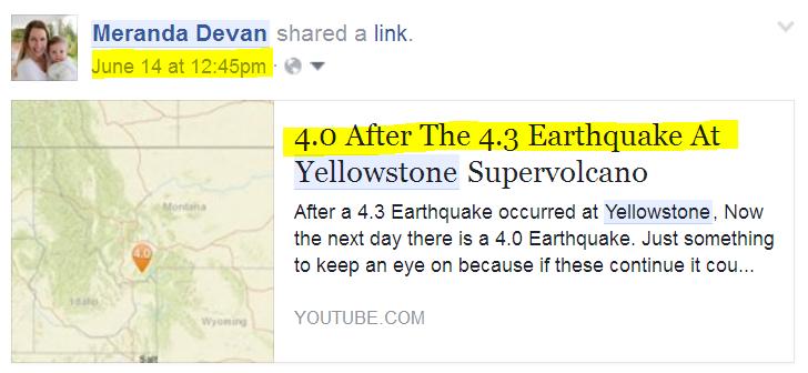 Yellowstone Quakes