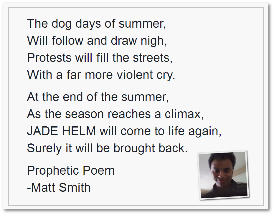 Matt Smith Prophetic Voice