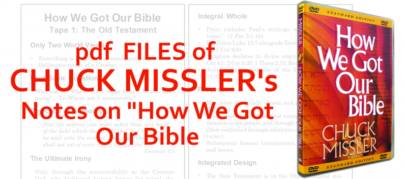 PDF File Of Chuck Misslers How we got our bible