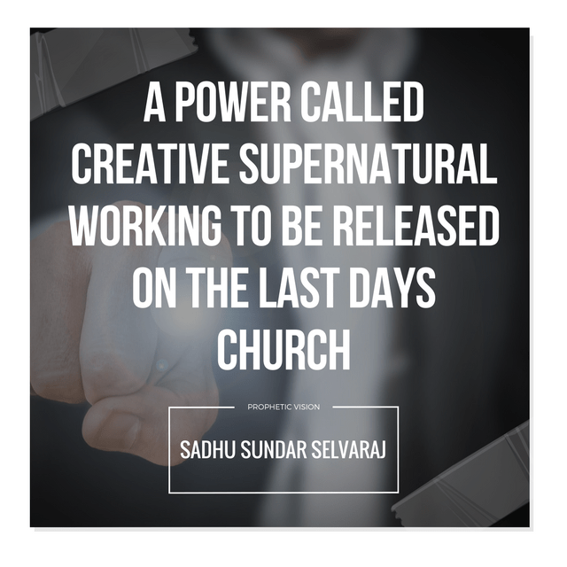 A Power Called Creative Supernatural Working To Be Released
