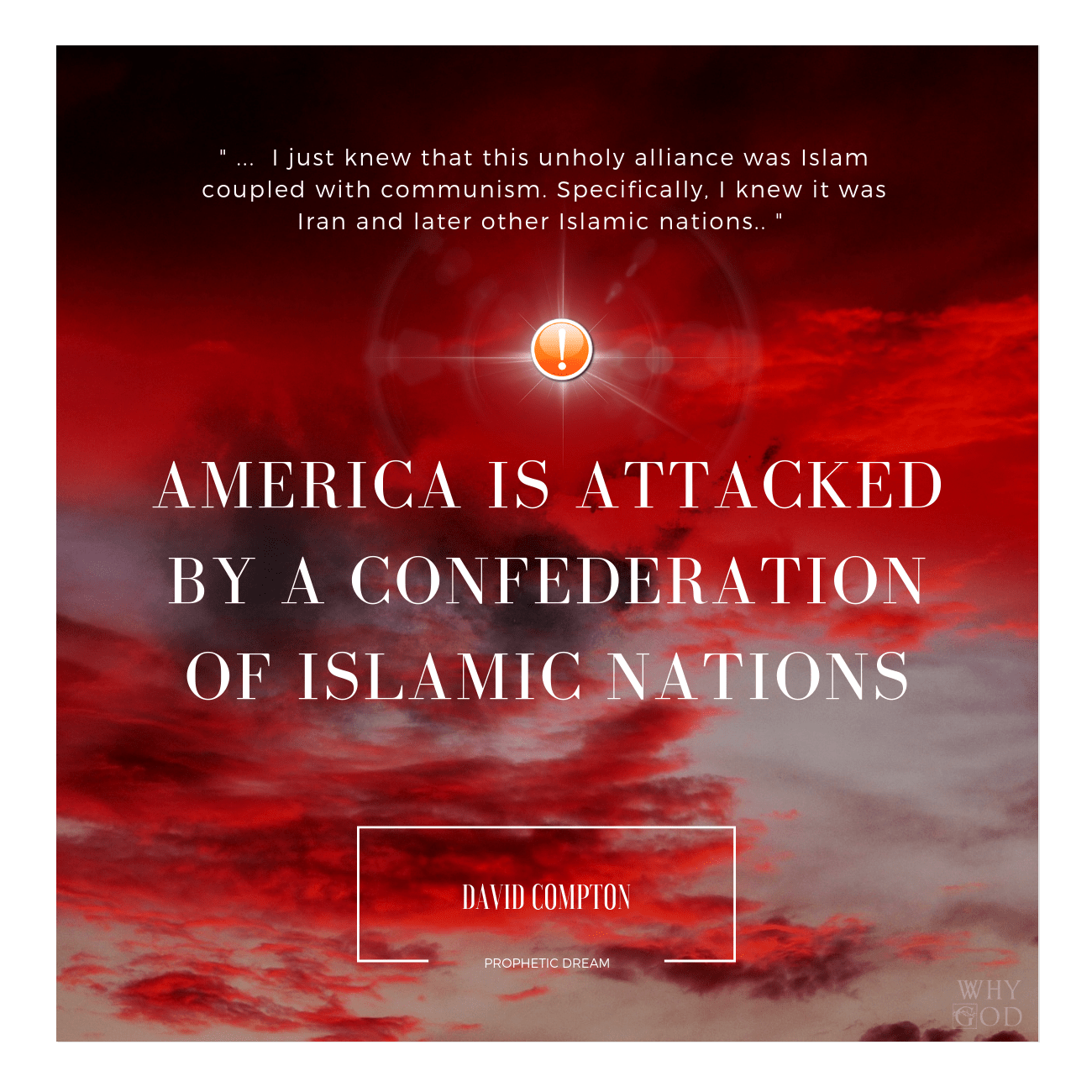 America Is Attacked By A Confederation Of Islamic Nations- A